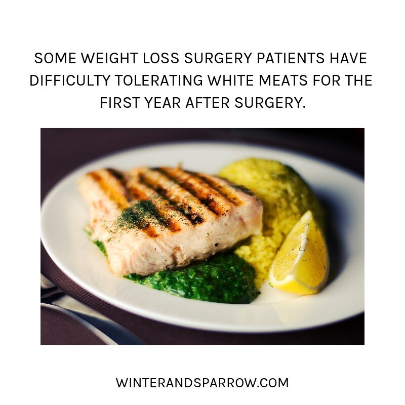 [VIDEO] How To Cope with the Holidays After Weight Loss Surgery [9 Simple Tips]   winterandsparrow.com #gastricsleeve #gastricsleevesurgery #weightlosssurgerytips #holidaysafterweightloss #bariatricsurgery {Picture of pork on a plate with rice and lemon).