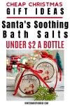 Cheap Christmas Gifts Ideas: Santa's Soothing Bath Salts {Free Label Download}