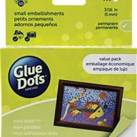 Glue Dots Mini Dots Adhesive Value Pack Sheets, 3/16 Inch, Clear, Pack of 600