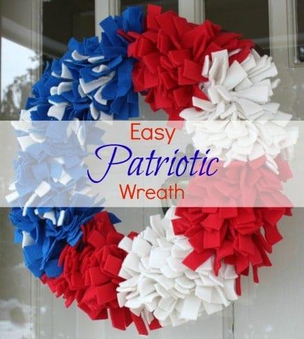 Easy Patriotic Wreath