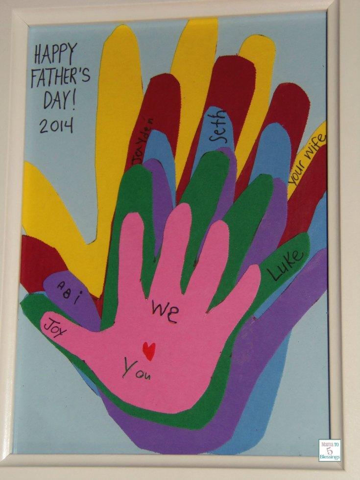 Paper Handprints Keepsake Father's Day Gift (Learn & Link W/ Linky)