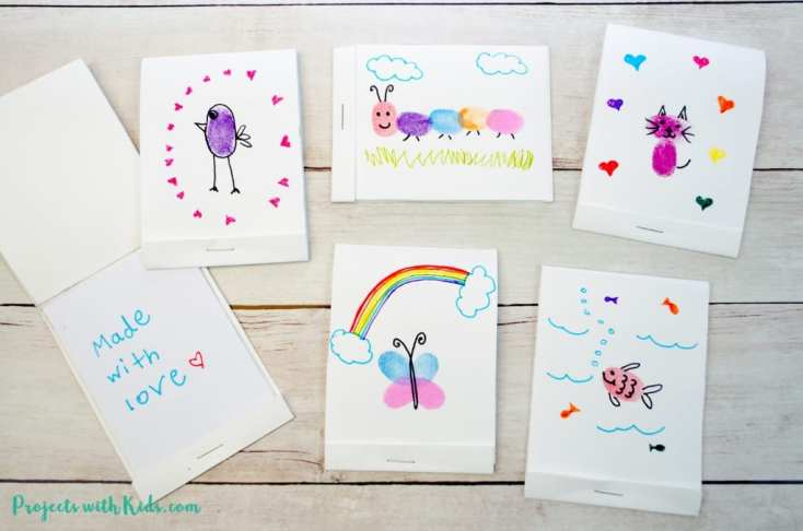Turn Fingerprint Art into Adorable Mini DIY Notebooks