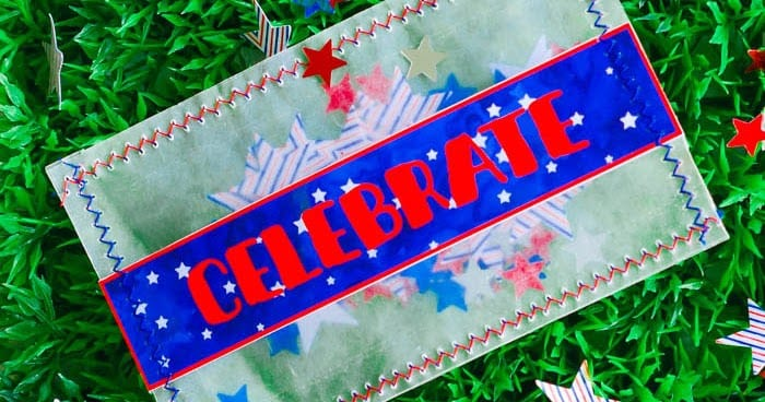 Patriotic Glassine Confetti Packets