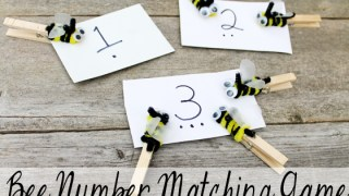 How to Make a Bee Themed Number Matching Game