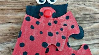 Ladybug Puzzle Craft