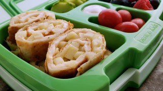 Melty Smoked Gouda, Mozzarella and Apple Pinwheels