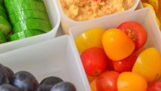 Roasted Red Pepper Hummus for Back to School | Power your Lunchbox Pledge