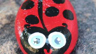 How to Paint Rocks that Look Like Ladybugs
