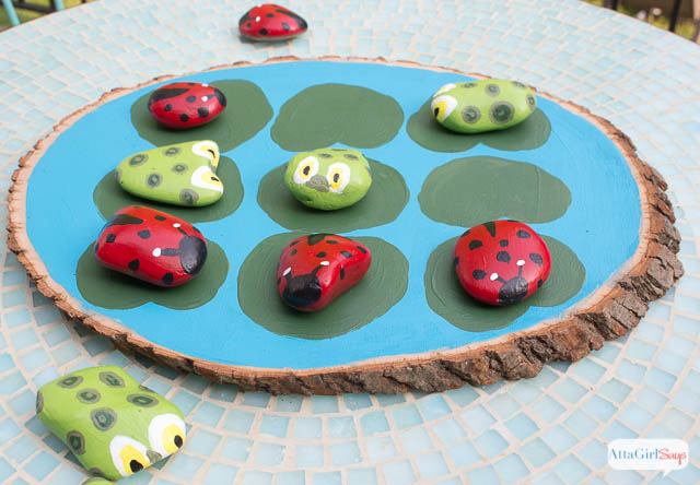 Ladybugs Vs. Tadpoles Outdoor Tic Tac Toe Game