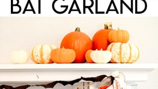 Easy Crepe Paper Bat Cut Out Garland for Halloween
