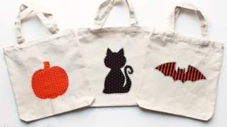 Reverse Applique DIY Trick or Treat Bags - DIY Candy