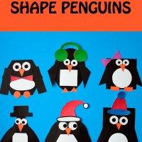 Mix and match shape penguin craft