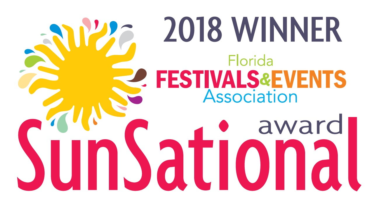 Florida Festival & Events SunSational Award Winner logo for 2018