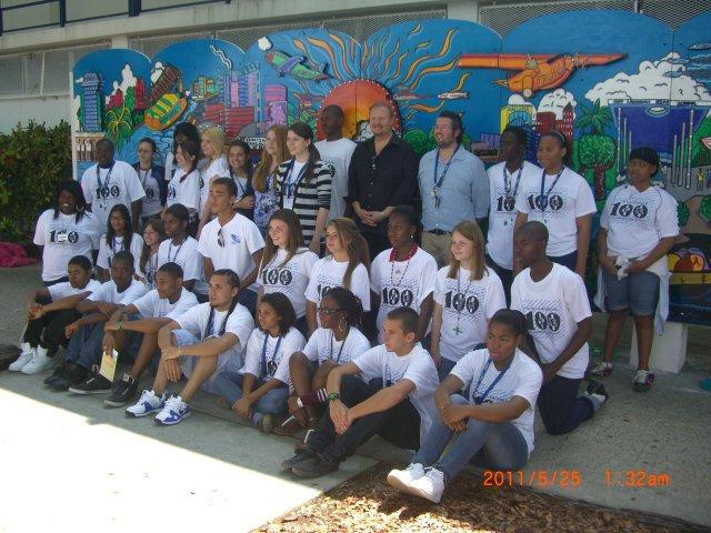 2010 Fazzino Mural - city centinnial at Fort Lauderdale High School