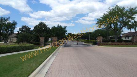 Black Lake Park Winter Garden Florida. Gated Entrance