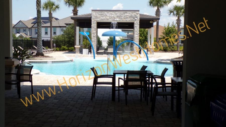 TwinWaters Pool Winter Entrance New Homes