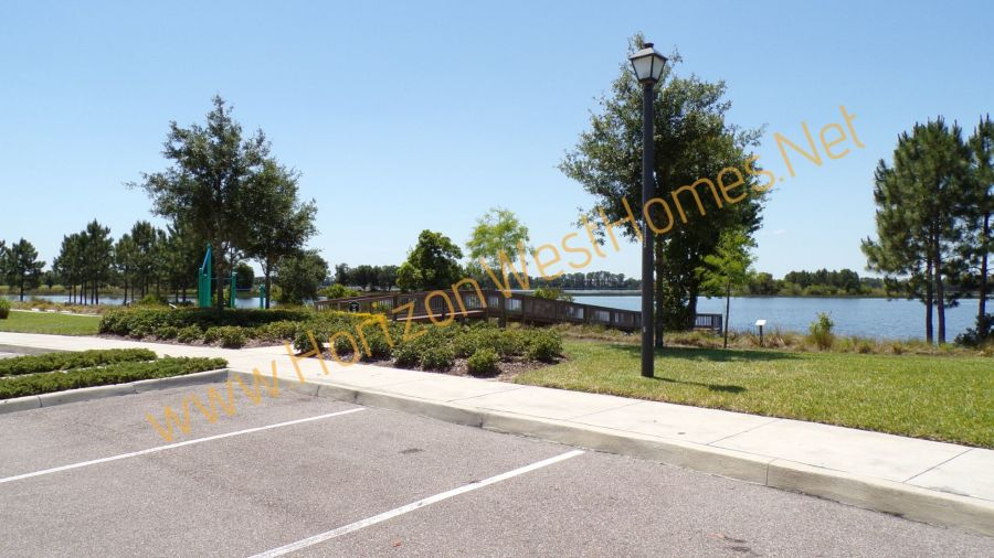 Lake Hickory Nut Waterleigh Fishing Dock in Winter Garden Florida Marina Bay. Home buyers in Waterleigh get great amenities