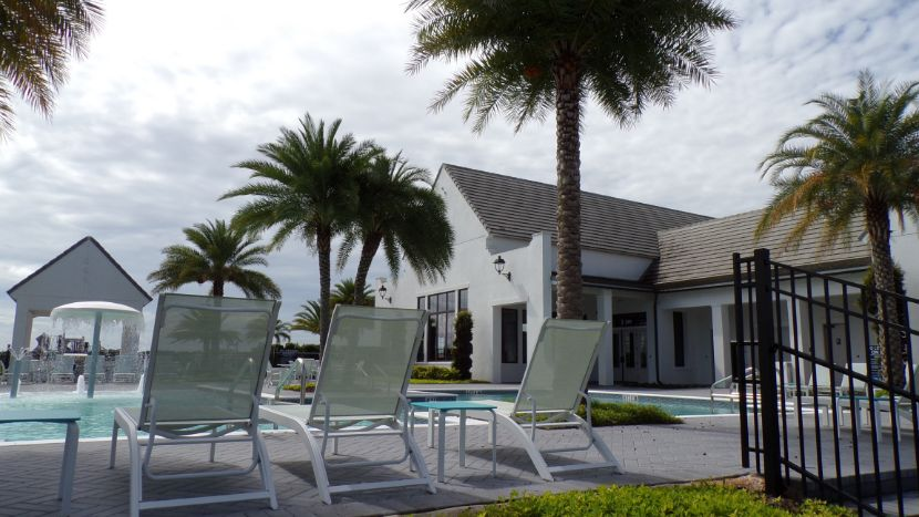 Toll brothers Lakeshore Winter Garden. Pool side entrance behind clubhouse