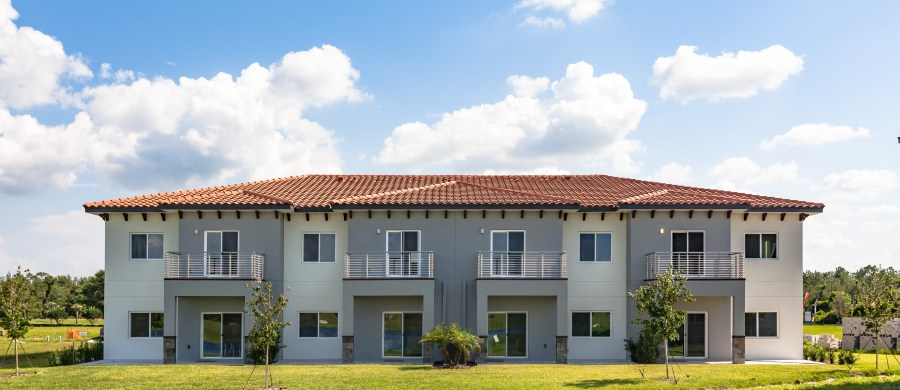 FID Homes Luxury Townhomes Rear view in Providence Florida