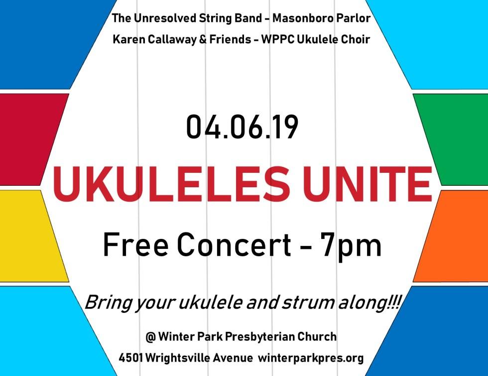 Ukuleles Unite 2019 Web Image