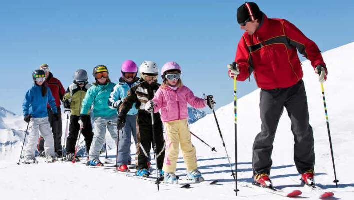 Wintersport schoolvakantie