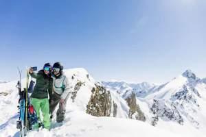 Wintersport skihuur en met een groep