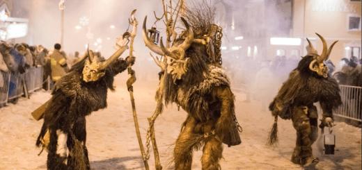 Krampuslauf und party in Obertauern