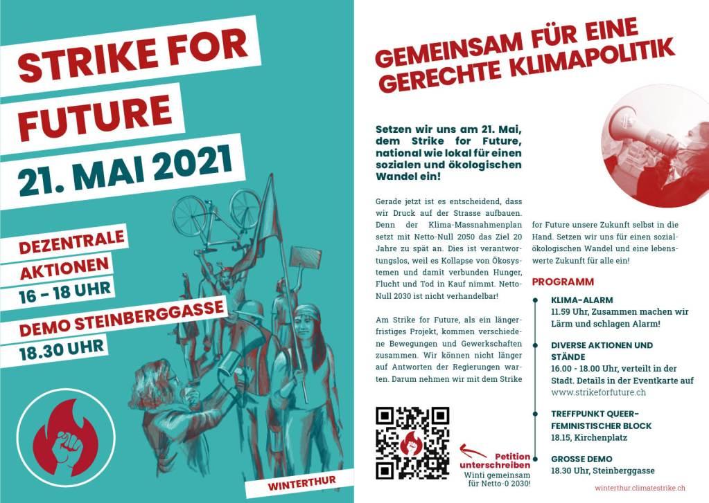 Strike for Future Flyer Winterthur