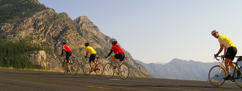 Biking in Winthrop Washington