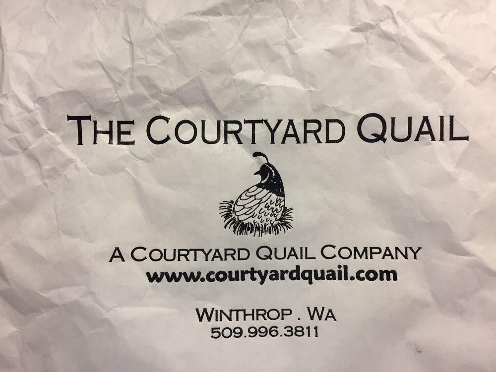The Courtyard Quail business card