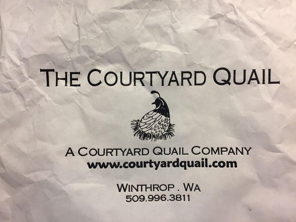 The Courtyard Quail business card