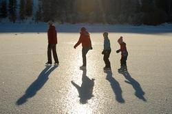 Lake Skating in Winthrop Washington