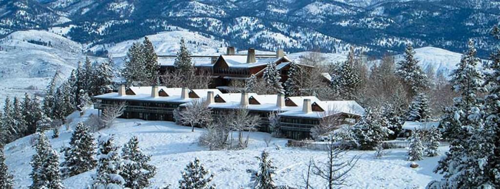 Sun mountain Lodge in Winthrop Washington winter wonderland