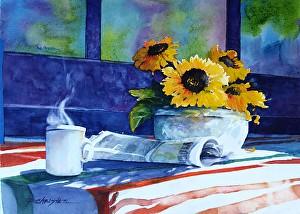 Paula Christen Watercolors winthrop wa methow valley window shopping
