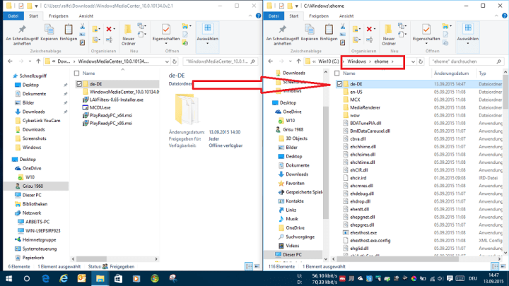 Windows Media Center Windows 10 DE