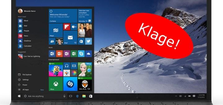 Windows 10 Zwangsupdate führt zur Klage