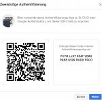 Anschließend seht ihr in Facebook einen QR-Code und einen Code - entweder ihr scannt den QR-Code oder ihr könnt den Code manuell in die App eingeben.