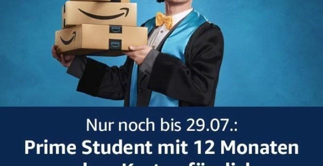 Amazon Prime Student - gesponsort von Microsoft