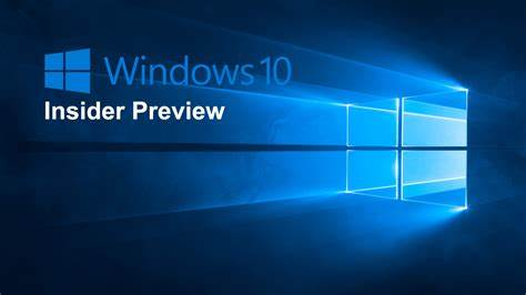 Windows 10 - Insider Preview