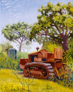 """Bob's 1933 Cleatrack Model 35 Tractor"" by Daphne Wynne Nixon, 2005"