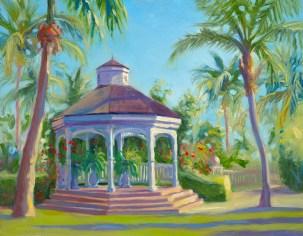 """""""Rose Hall Gazebo"""", 11"""" x 14"""", oil by Daphne Wynne Nixon"""