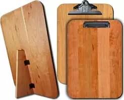 "Hardwood Freestanding Menu Board 9.5"" x 13.5"" Warm Cherry"