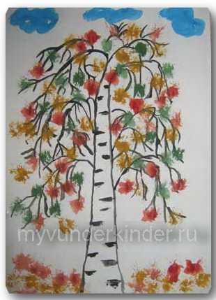 Как нарисовать березу осенью поэтапно – Как нарисовать ...