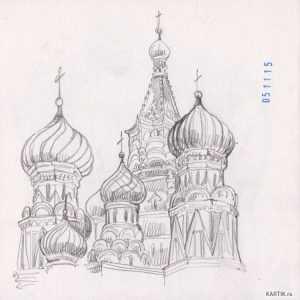 Как рисовать красную площадь поэтапно – Изучаем МОСКВУ ...