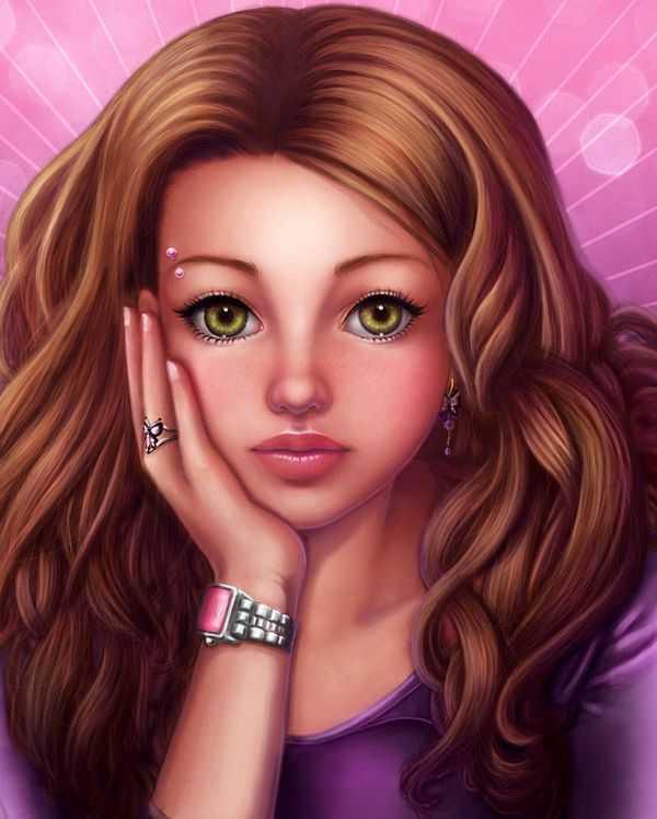 Картинки рисованные девочки – картинки и фото нарисованные ...