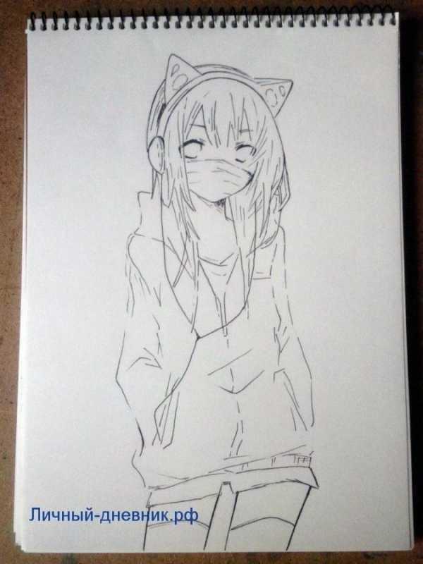 Красивые рисунки девочек для срисовки – Ой! Уроки ...