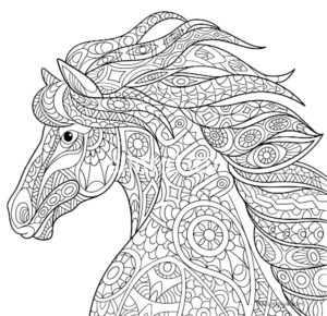 Лошади раскраска антистресс – Красивые антистресс ...