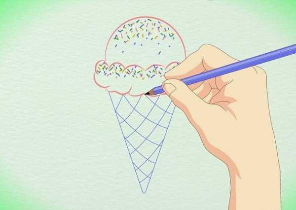 Мороженое рожок рисунок – Картинки мороженое в рожке ...