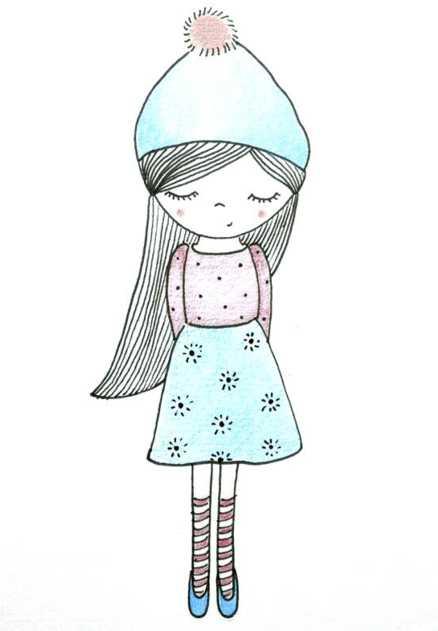 Прикольные картинки для девочек 12 лет для срисовки ...