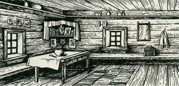 Рисунок карандашом изба изнутри – Как нарисовать русскую ...